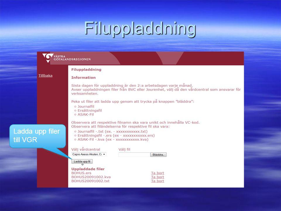 Filuppladdning Ladda upp filer till VGR