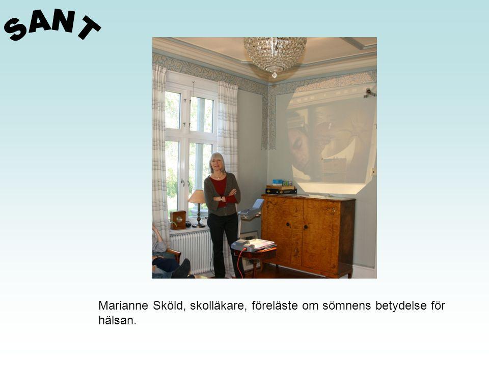 Marianne Sköld, skolläkare, föreläste om sömnens betydelse för hälsan.