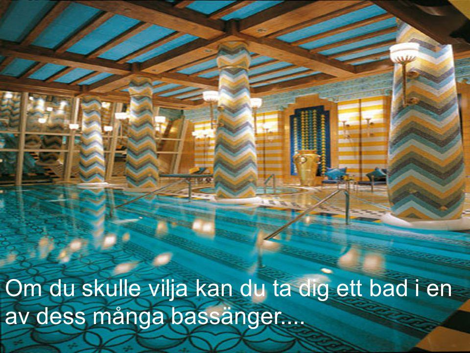Om du skulle vilja kan du ta dig ett bad i en av dess många bassänger....