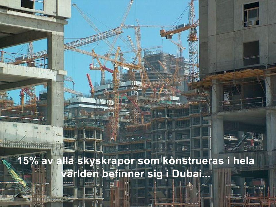 15% av alla skyskrapor som konstrueras i hela världen befinner sig i Dubai...