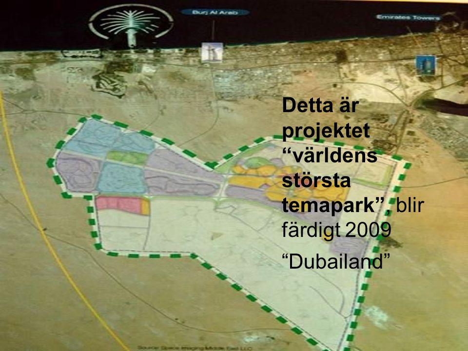 """Detta är projektet """"världens största temapark"""", blir färdigt 2009 """"Dubailand"""""""