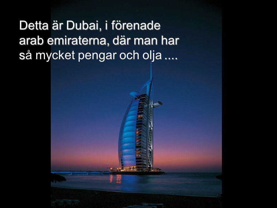 Detta är Dubai, i förenade arab emiraterna, där man har s.... Detta är Dubai, i förenade arab emiraterna, där man har så mycket pengar och olja....