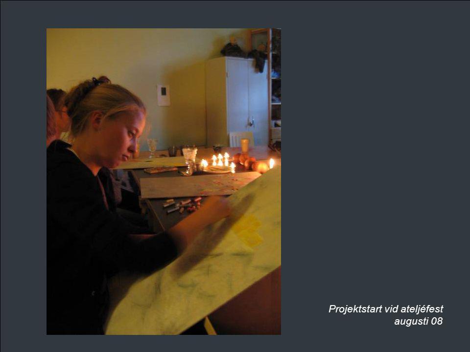 Projektstart vid ateljéfest augusti 08