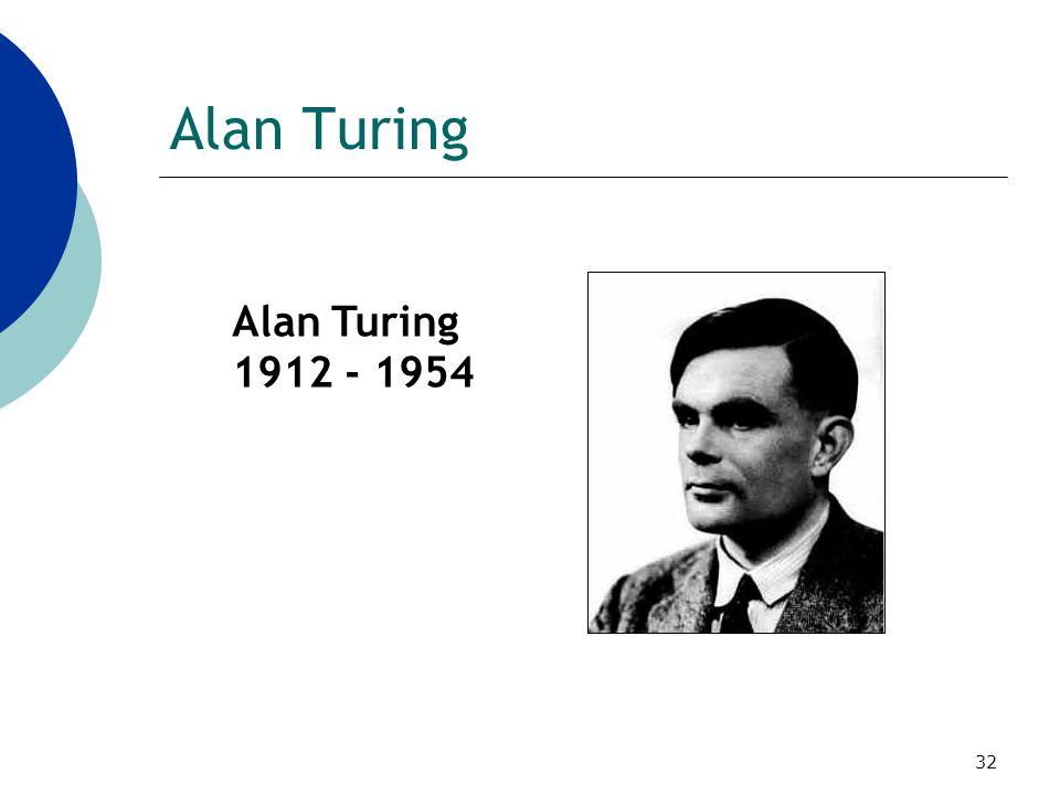 32 Alan Turing 1912 - 1954