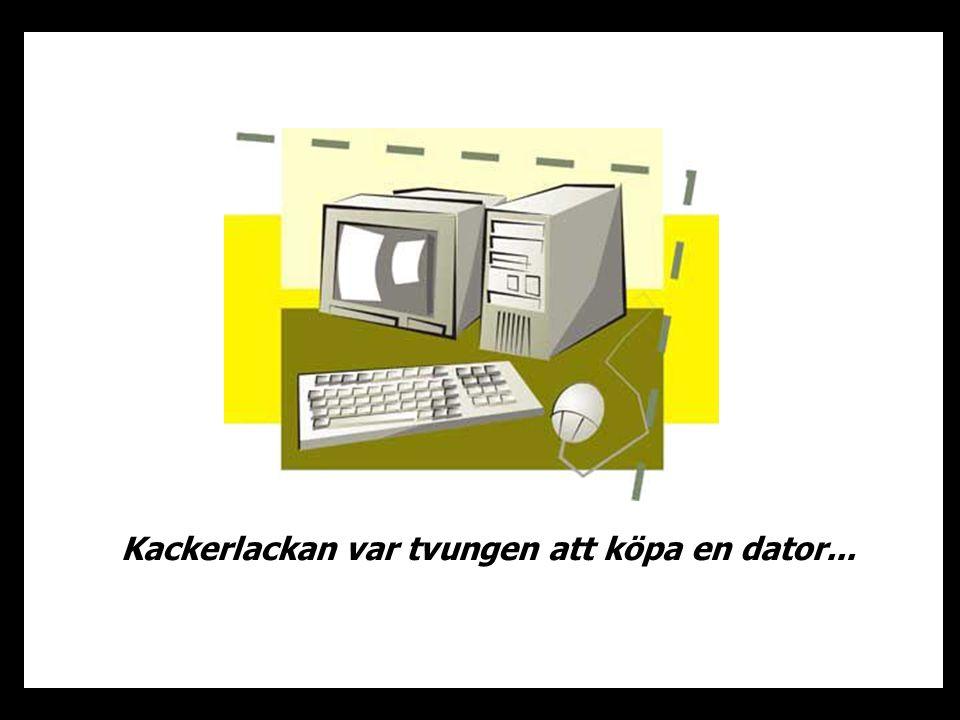 Kackerlackan var tvungen att köpa en dator...