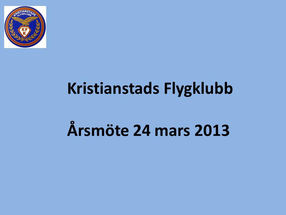 Kristianstads Flygklubb Årsmöte 24 mars 2013