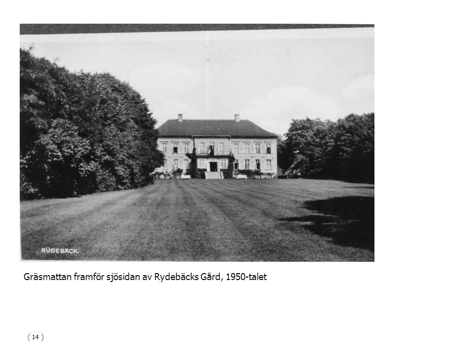 Gräsmattan framför sjösidan av Rydebäcks Gård, 1950-talet ( 14 )