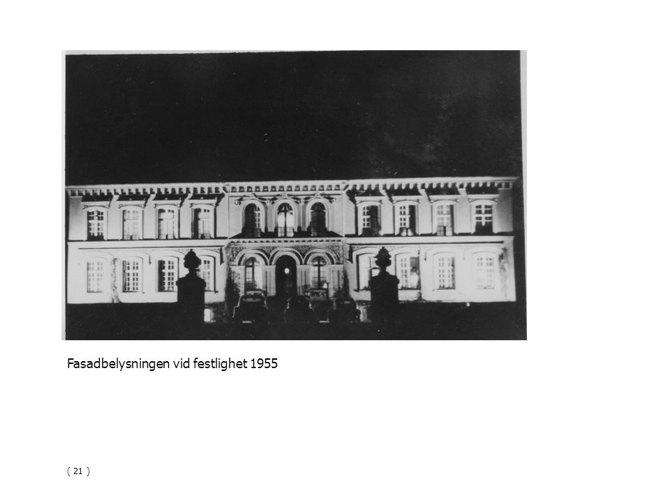 Fasadbelysningen vid festlighet 1955 ( 21 )
