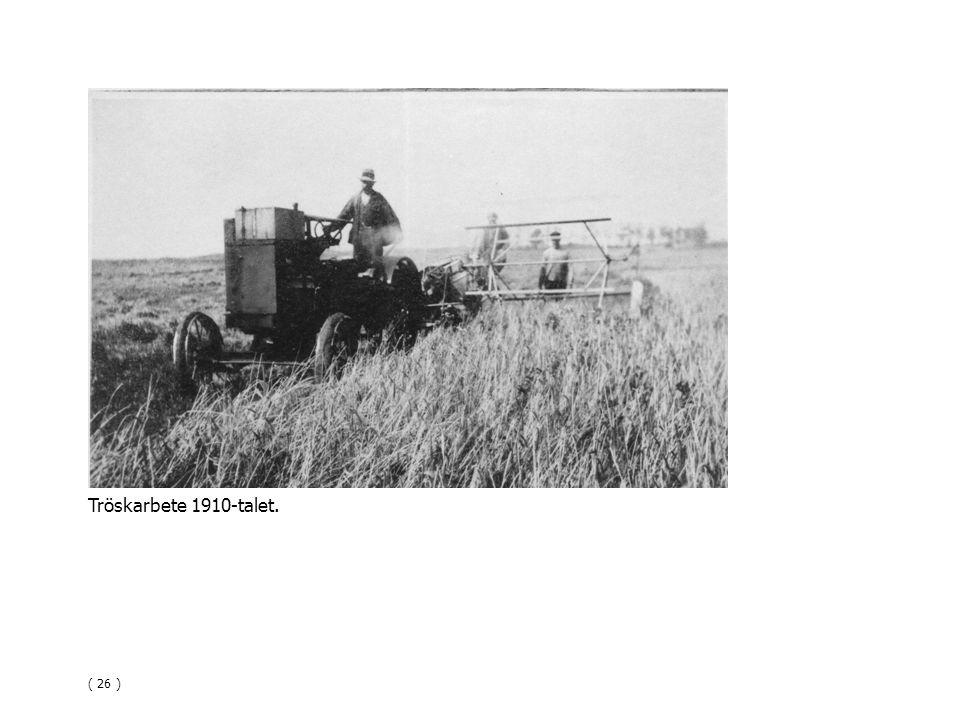 Tröskarbete 1910-talet. ( 26 )