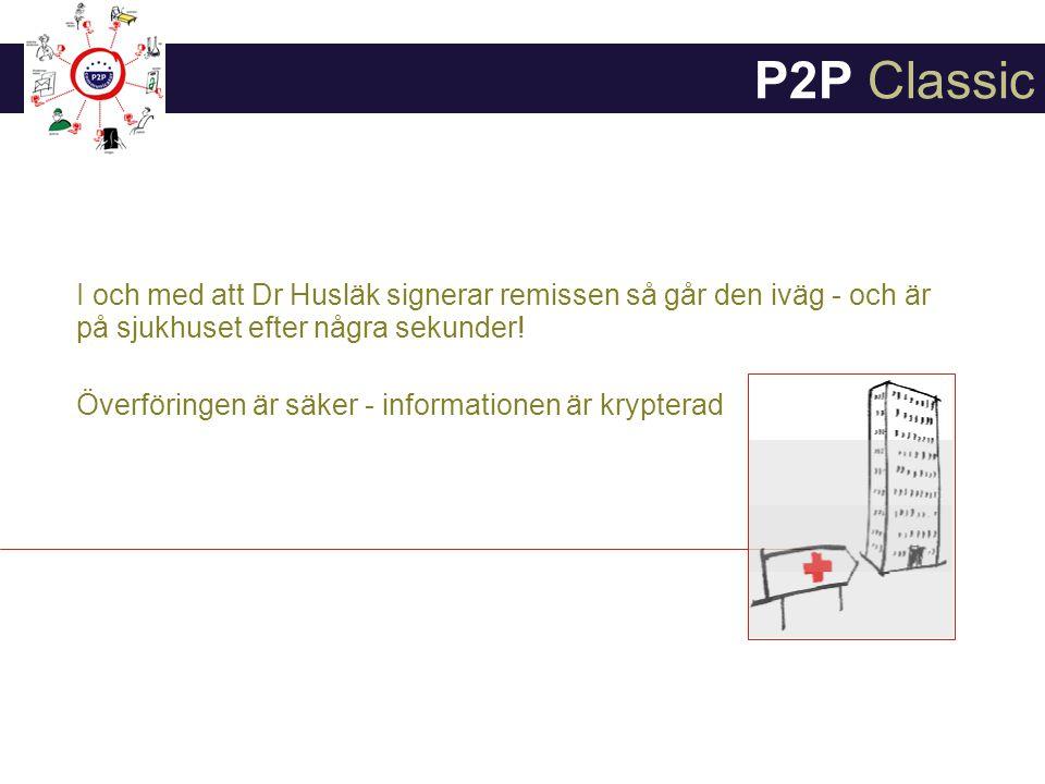 I och med att Dr Husläk signerar remissen så går den iväg - och är på sjukhuset efter några sekunder.