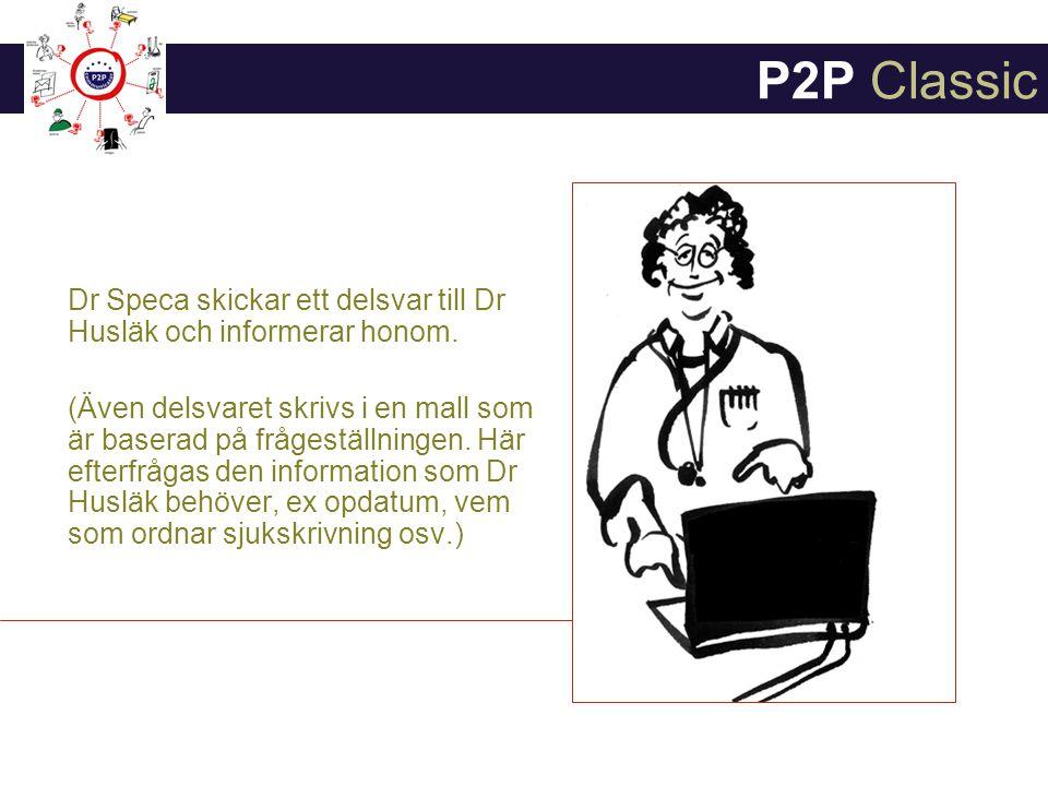 Dr Speca skickar ett delsvar till Dr Husläk och informerar honom.