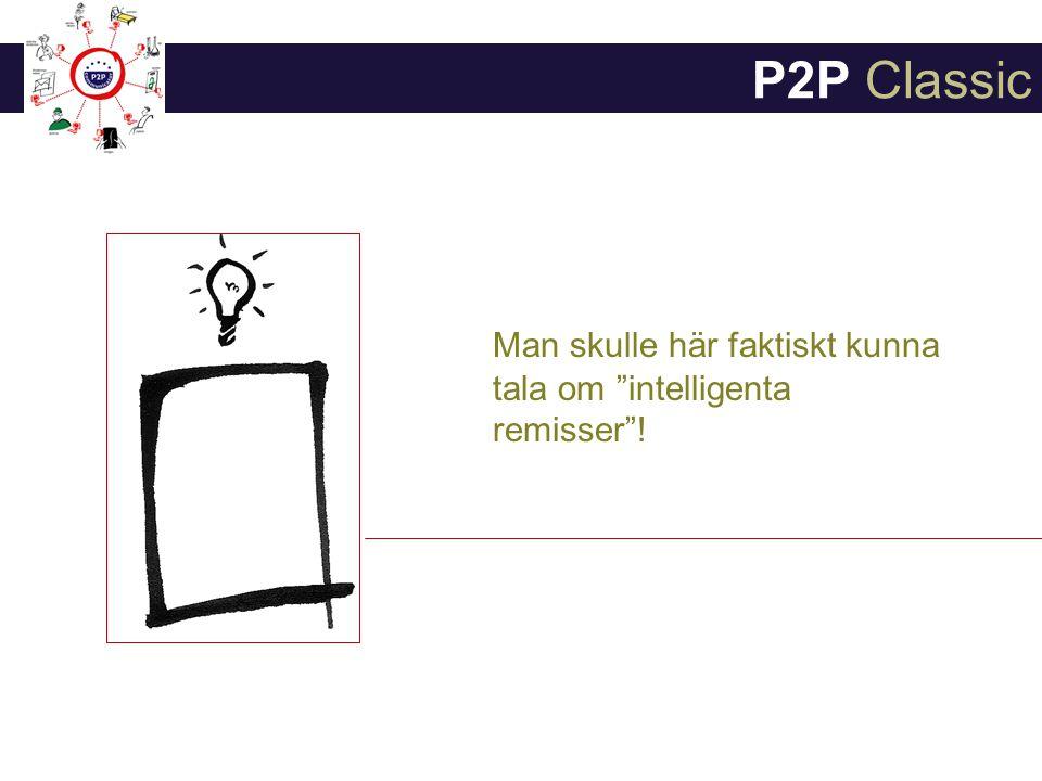 Man skulle här faktiskt kunna tala om intelligenta remisser ! P2P Classic
