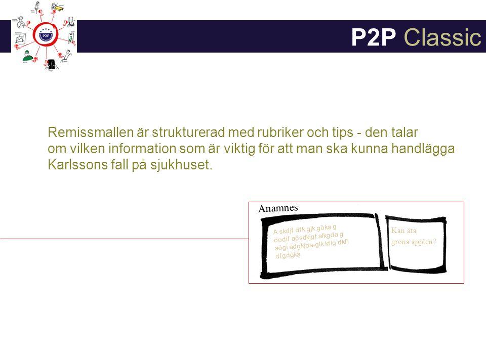 Mallen kan även fungera som en checklista i samtalet med patienten - så att Dr Husläk får med all relevant information och ingenting glöms.