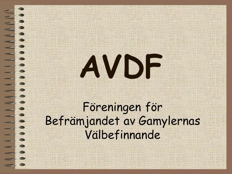 AVDF Föreningen för Befrämjandet av Gamylernas Välbefinnande