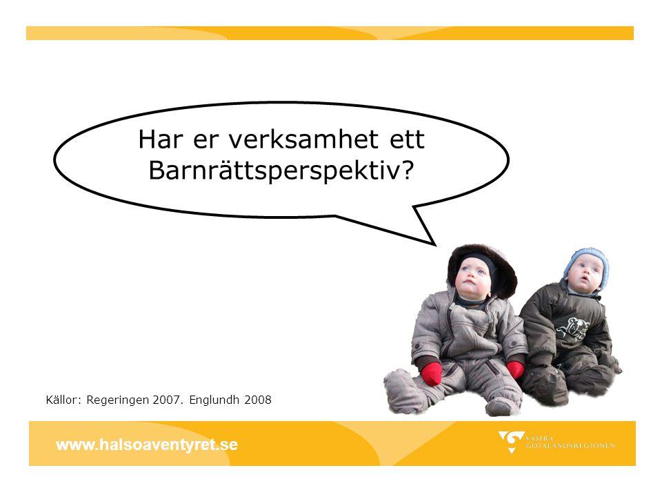 Kontaktuppgifter: Hälsoäventyret Oasen Vara www.halsoaventyret.se www.halsoaventyret.se Verksamhetschef liselott.m.johansson@vgregion.se liselott.m.johansson@vgregion.se 0512-786136 Barnrättsansvariga ebba.kostmann@vgregion.seebba.kostmann@vgregion.se 0512-786135 marcus.berggren@vgregion.se Powerpoint-presentation på Hälsokällans hemsida: http://www.fyrbodal.se/page/537/halsokallan.htm www.halsoaventyret.se