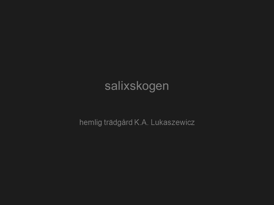 salixskogen hemlig trädgård K.A. Lukaszewicz