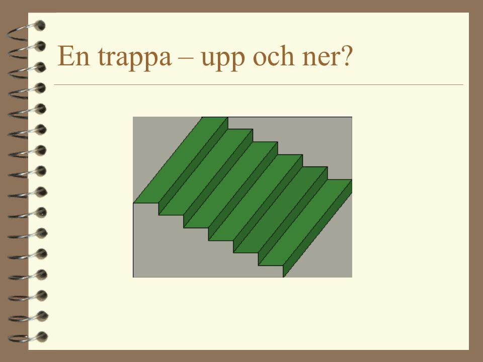 En trappa – upp och ner?