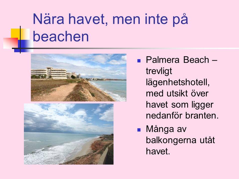 Nära havet, men inte på beachen  Palmera Beach – trevligt lägenhetshotell, med utsikt över havet som ligger nedanför branten.