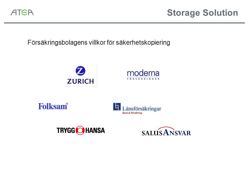 Storage Solution Försäkringsbolagens villkor för säkerhetskopiering