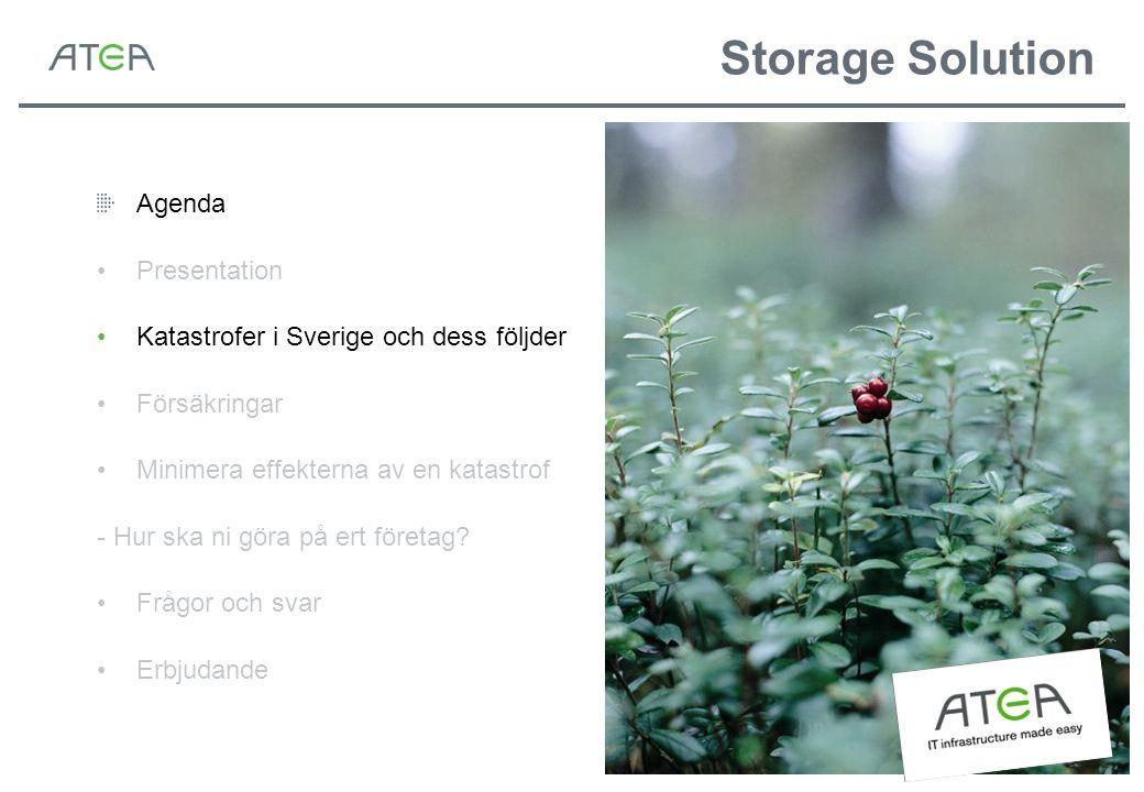 Storage Solution Källa: Computer Sweden 2005 Kostsamt