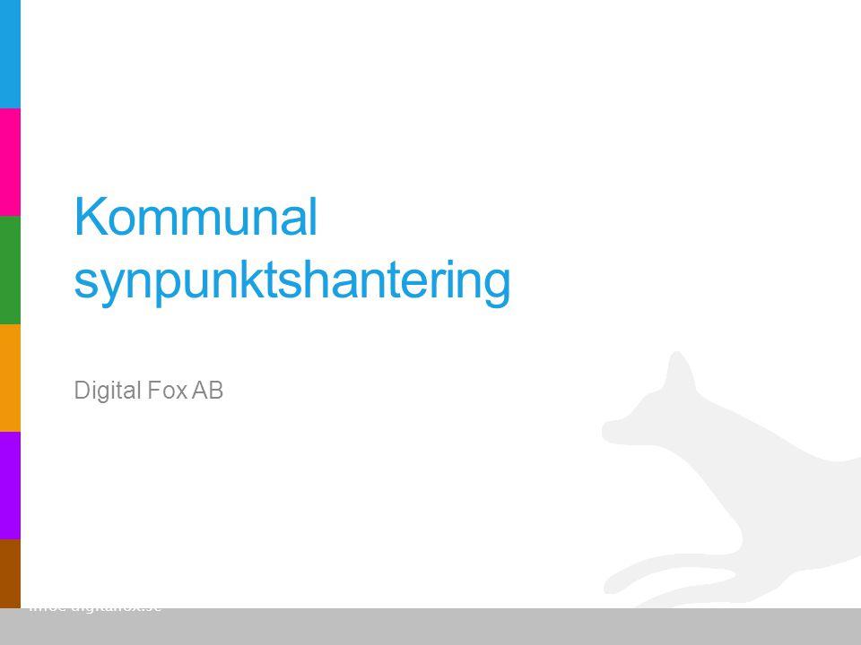 Digital Fox AB 2 •Fokus på synpunktshantering sedan 2006.