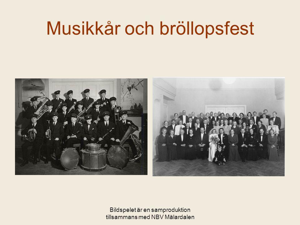 Bildspelet är en samproduktion tillsammans med NBV Mälardalen Musikkår och bröllopsfest