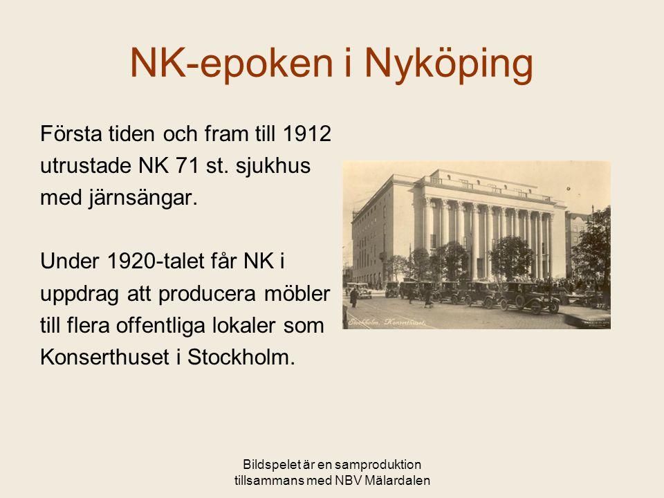 Bildspelet är en samproduktion tillsammans med NBV Mälardalen NK-epoken i Nyköping Första tiden och fram till 1912 utrustade NK 71 st. sjukhus med jär