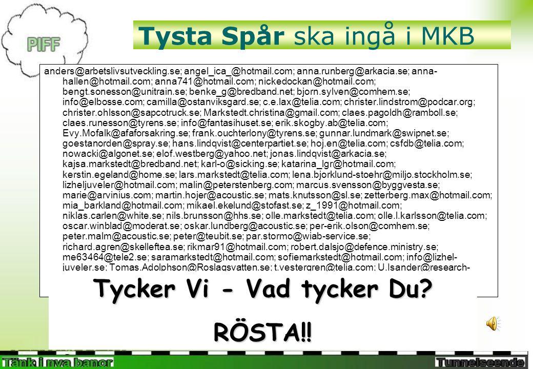 Tysta Spår är ett rimligt alternativ Miljöbalk (1998:808) 6 kap.
