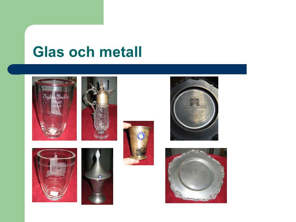 Glas och metall