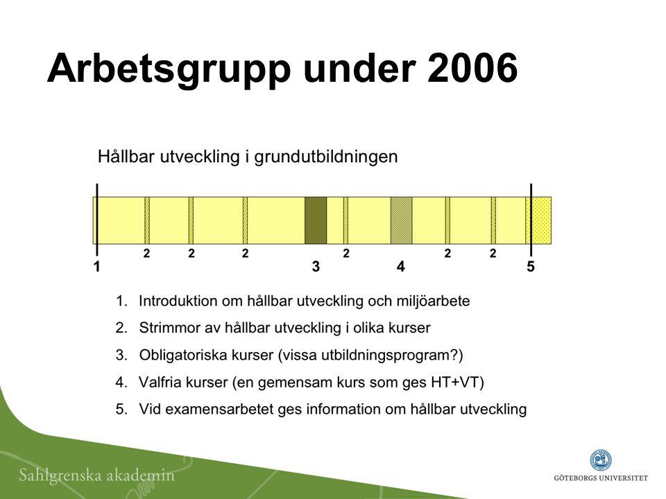Arbetsgrupp under 2006