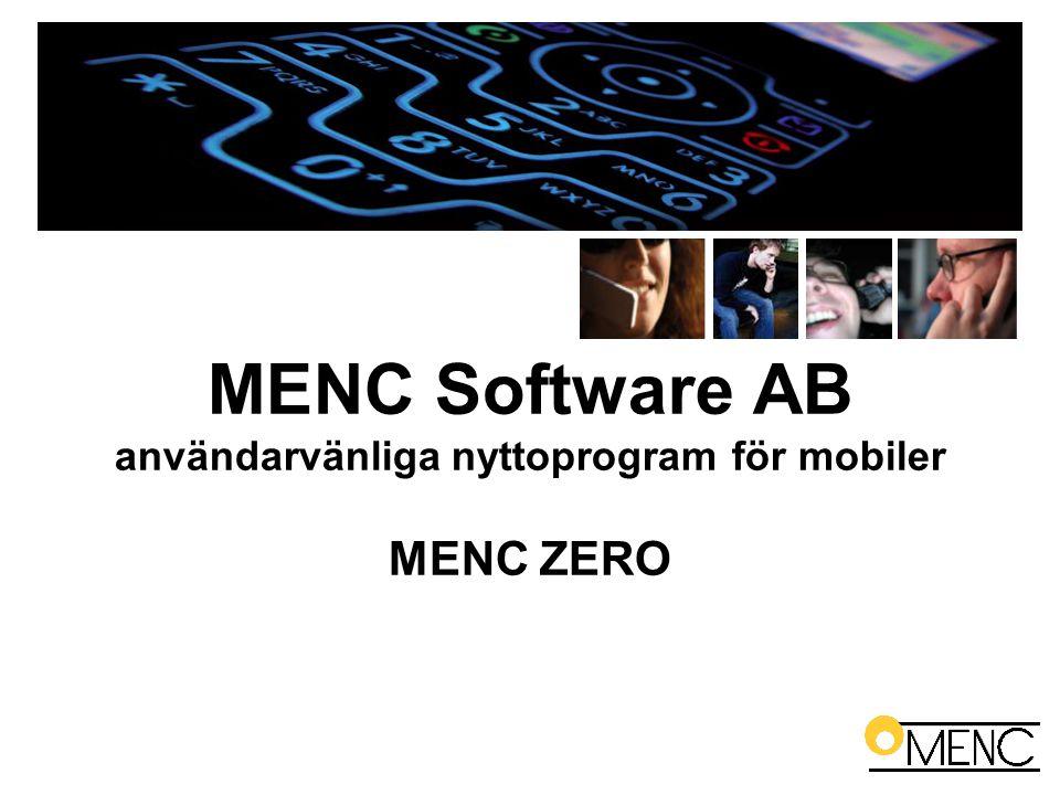 MENC Software AB användarvänliga nyttoprogram för mobiler MENC ZERO