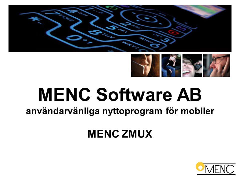 MENC Software AB användarvänliga nyttoprogram för mobiler MENC ZMUX