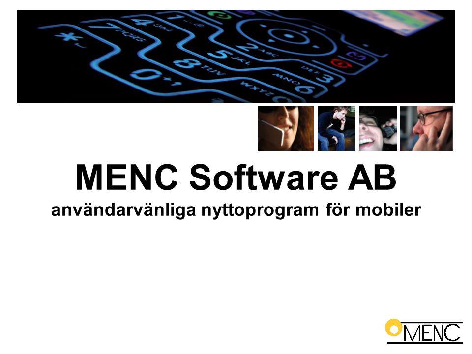MENC Software AB användarvänliga nyttoprogram för mobiler