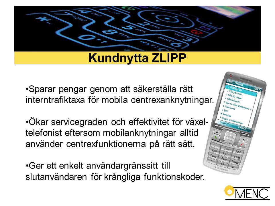 •Sparar pengar genom att säkerställa rätt interntrafiktaxa för mobila centrexanknytningar. •Ökar servicegraden och effektivitet för växel- telefonist
