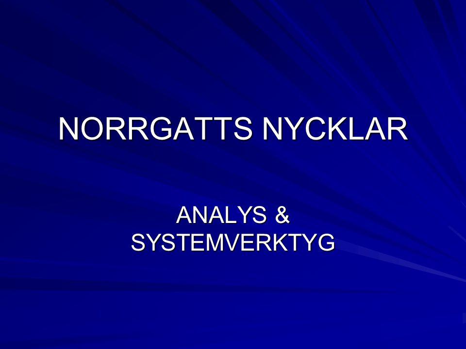NORRGATTS NYCKLAR ANALYS & SYSTEMVERKTYG