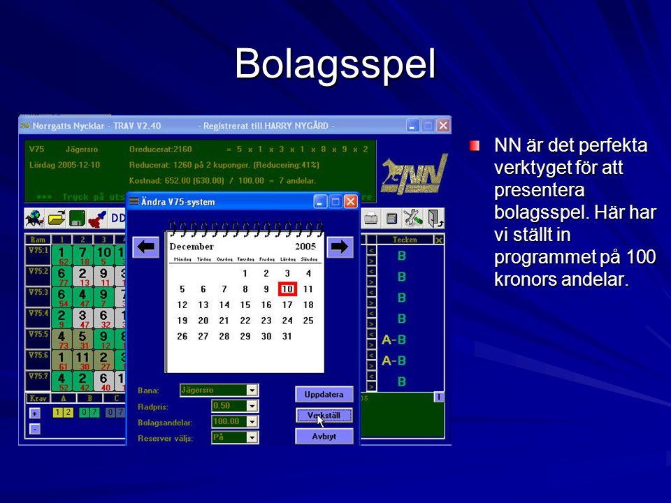 Bolagsspel NN är det perfekta verktyget för att presentera bolagsspel.