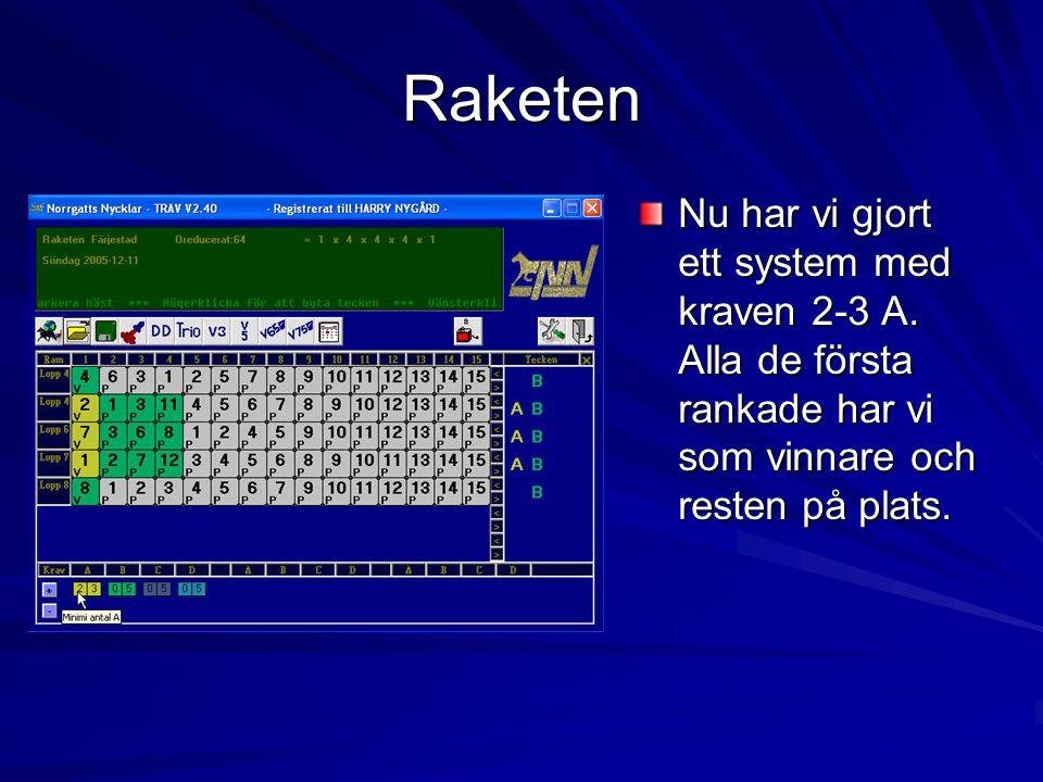 Raketen Nu har vi gjort ett system med kraven 2-3 A.