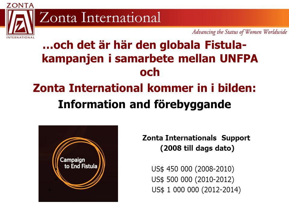 …och det är här den globala Fistula- kampanjen i samarbete mellan UNFPA och Zonta International kommer in i bilden: Information and förebyggande Zonta