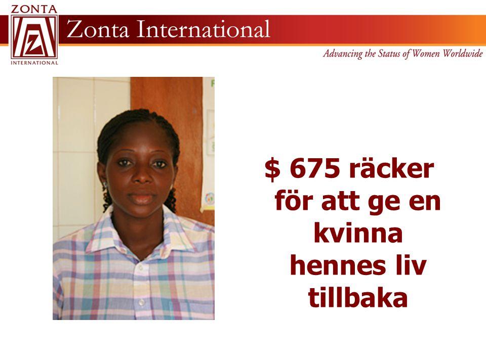 $ 675 räcker för att ge en kvinna hennes liv tillbaka