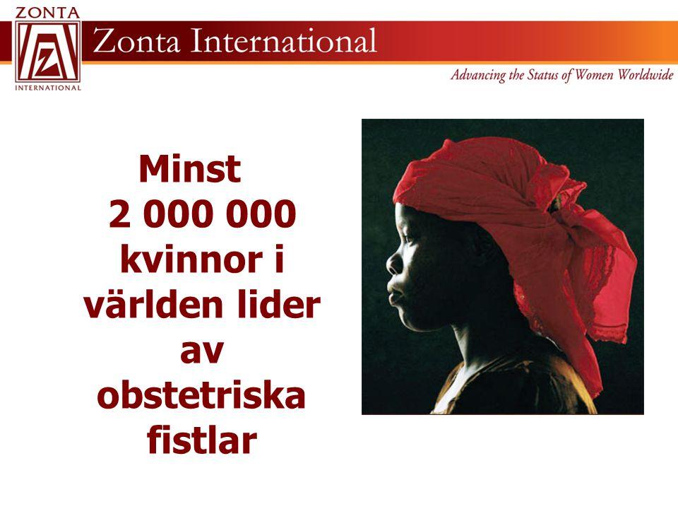 Minst 2 000 000 kvinnor i världen lider av obstetriska fistlar