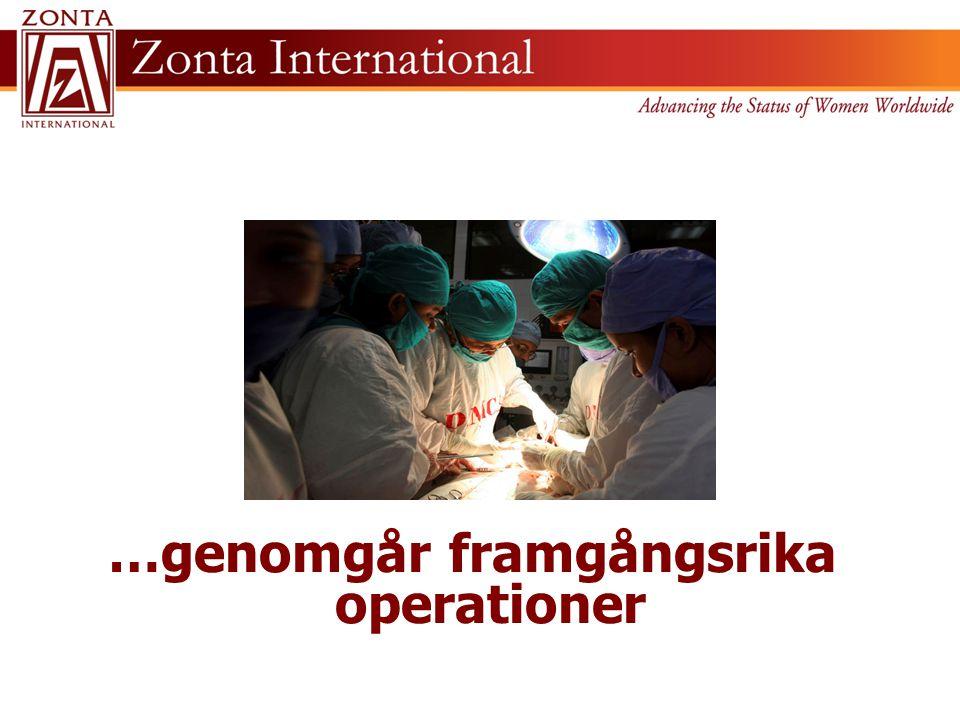 …genomgår framgångsrika operationer