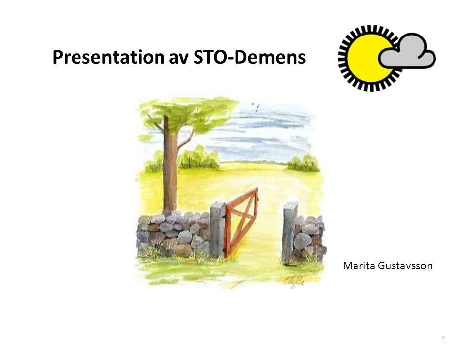 Presentation av STO-Demens 1 Marita Gustavsson