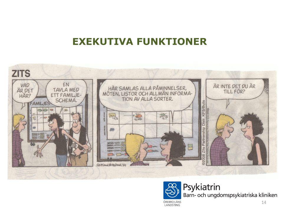 EXEKUTIVA FUNKTIONER 14