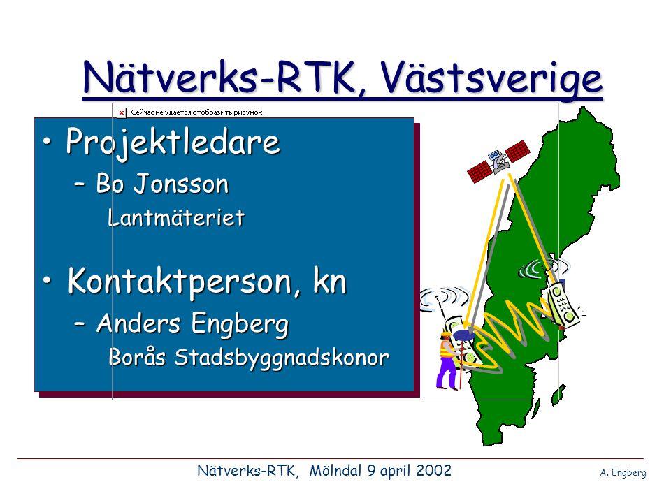 Nätverks-RTK, Västsverige •Är tiden mogen.Nätverks-RTK, Mölndal 9 april 2002 A.