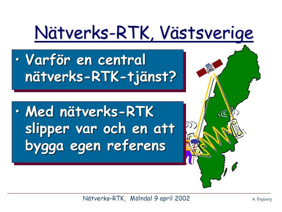 •Vad är bättre med en central tjänst.Nätverks-RTK, Västsverige •Fördelar.