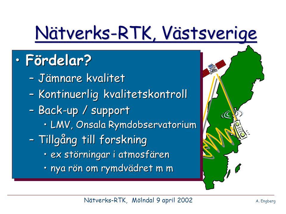 Nätverks-RTK, Västsverige •Arbetsgruppens uppgift –Undersöka intresse.