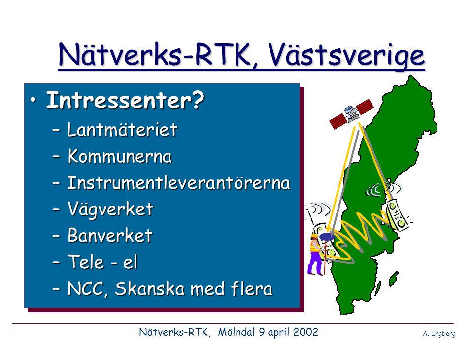 Nätverks-RTK, Västsverige Nätverks-RTK, Mölndal 9 april 2002 A.