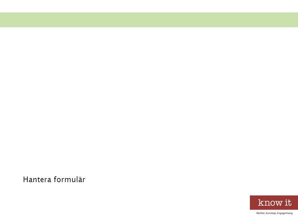 Hantera formulär