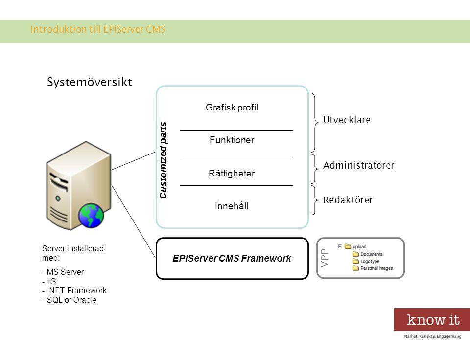 Struktur i EPiServer CMS