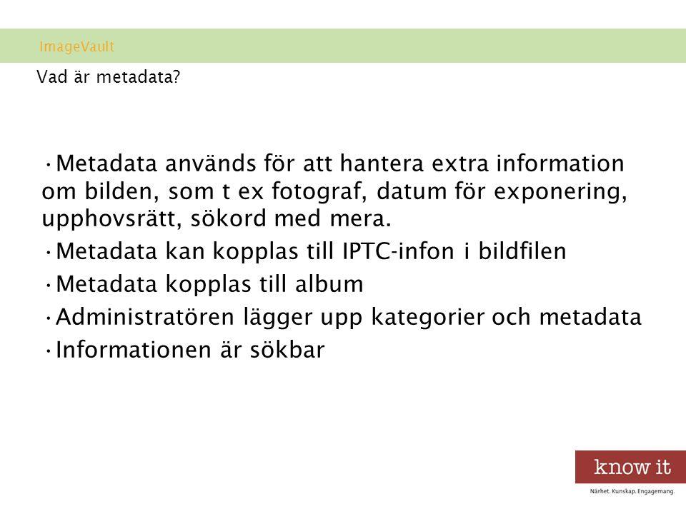 Vad är metadata.
